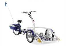 Adapted bicycles available to hire graphic