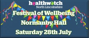 Healthwatch Festival of Wellbeing graphic