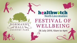 Healthwatch NL Festival of Wellbeing graphic