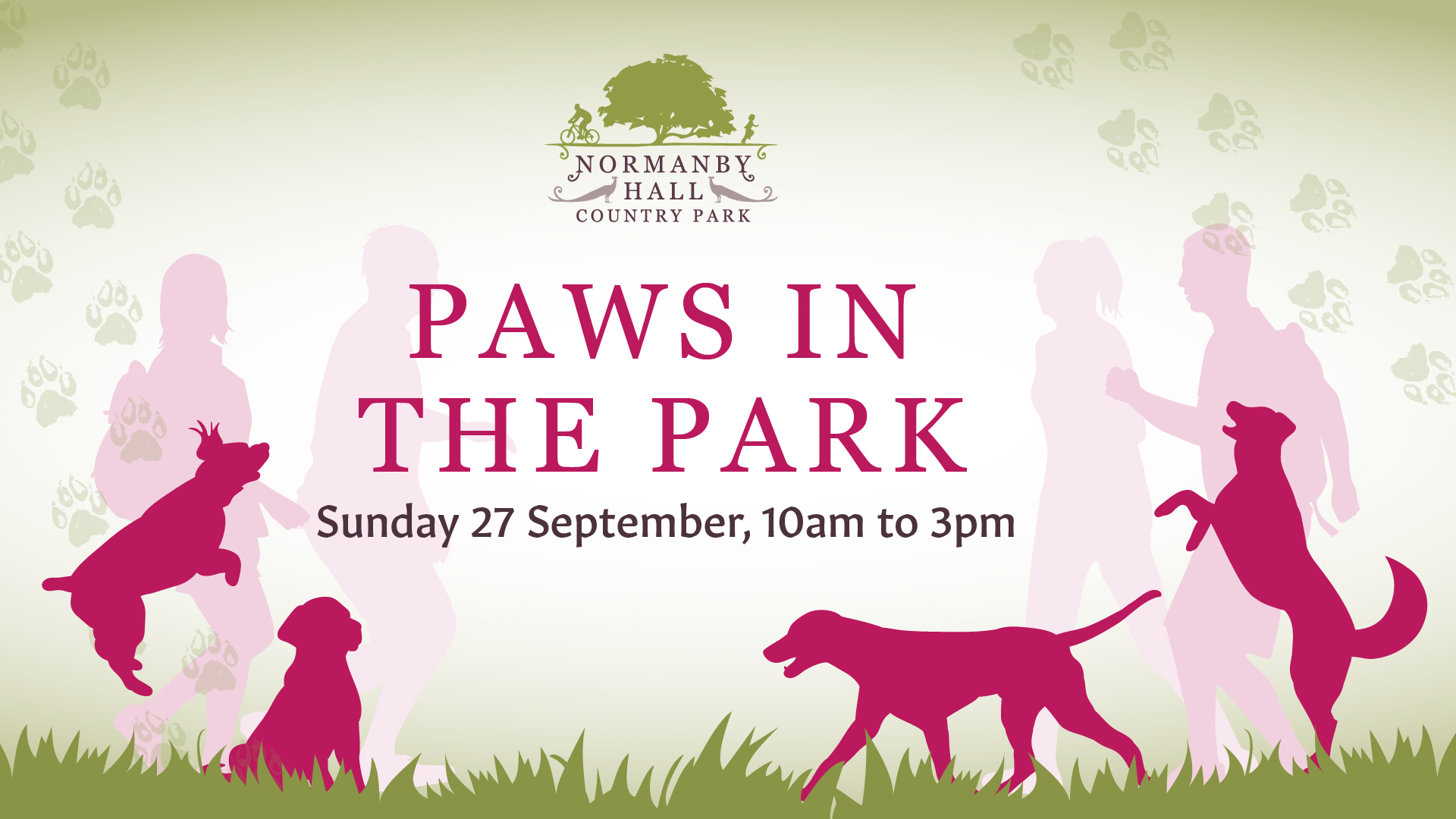 photo of the leaflet for Paws in the Park