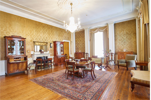 Photograph of the drawing room at Normanby Hall