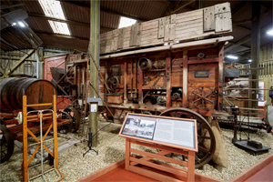 Threshing machine at The Rural Life Museum