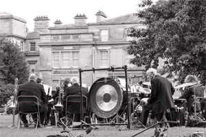 Photograph of Markham Main Colliery Band performing at Normanby Hall