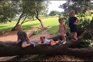 Children on the Climbing Tree. Photo by Helen Daniel